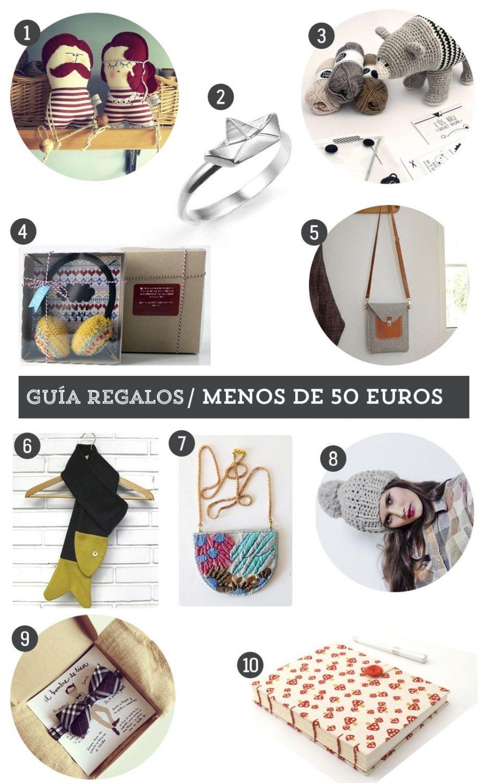 Guía de regalo: 10 regalos handmade por menos de 50 euros