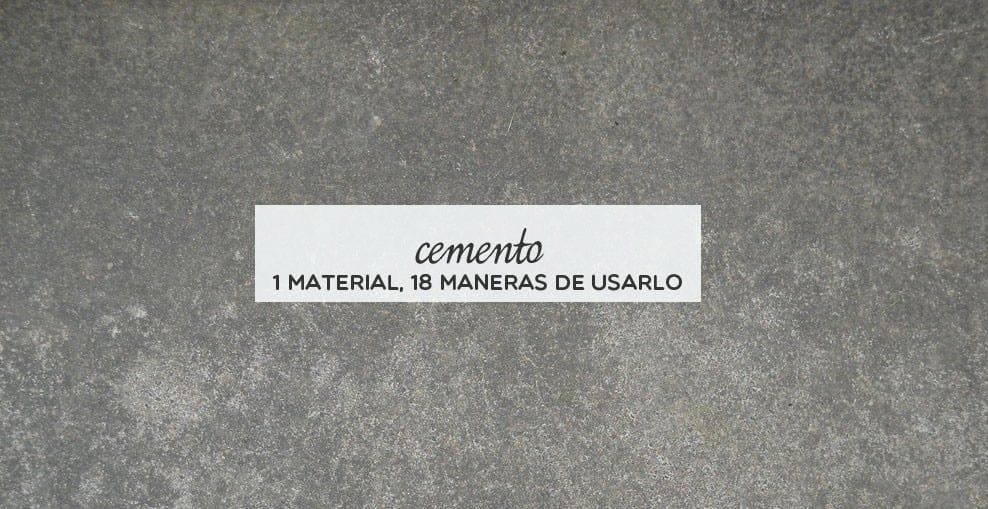 Inspiración: 18 DIYs para decorar con cemento