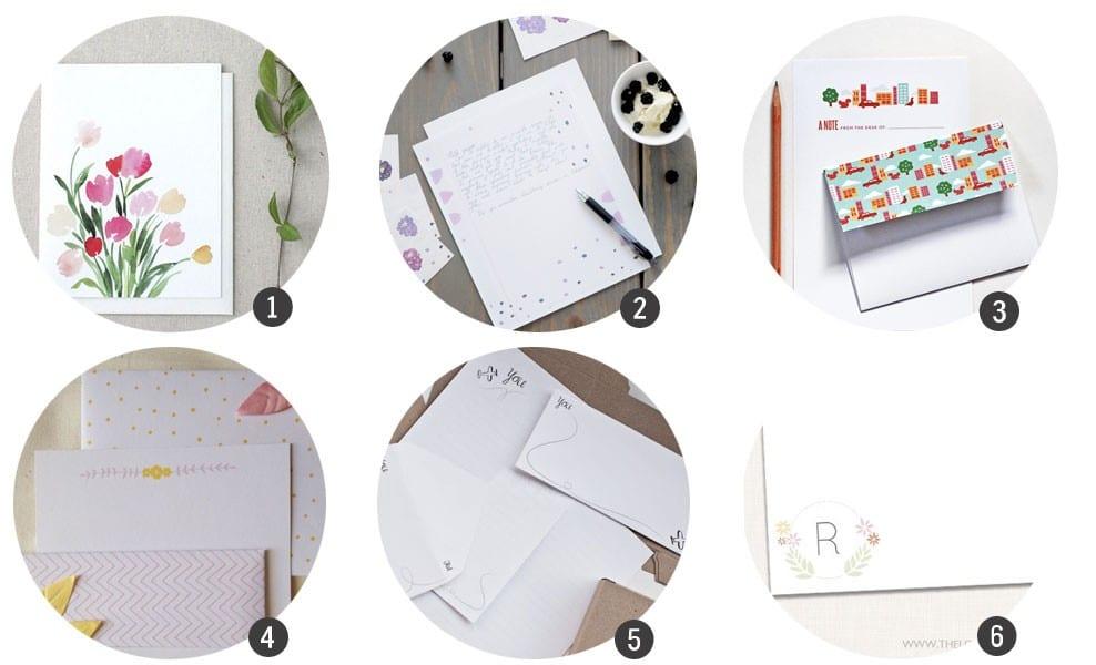 Imprimibles gratis > 18 sets de cartas y sobres para imprimir en blog.cosasmolonas.com