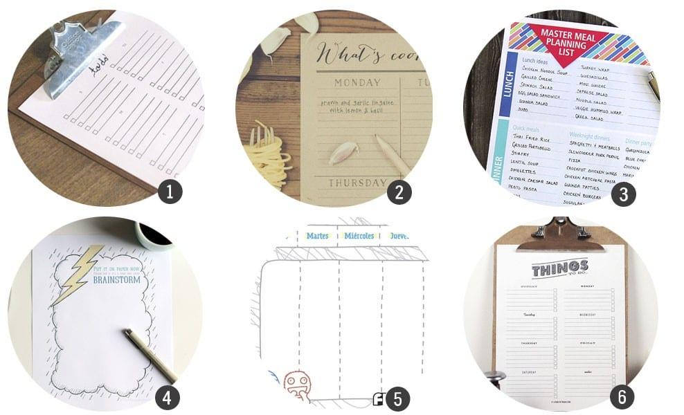 Imprimibles gratis: 18 planificadores para tu día a día para imprimir