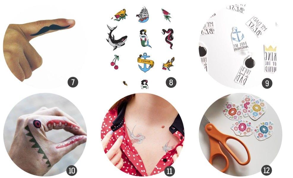 Imprimibles gratis: 12 tatuajes temporales para imprimir