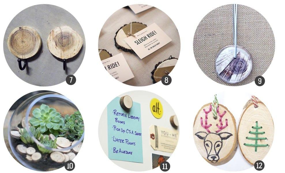 Inspiración: 18 DIYs con discos de madera