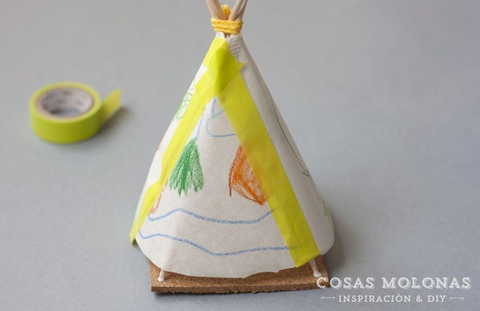 Cómo hacer un tipi de papel | Cosas Molonas