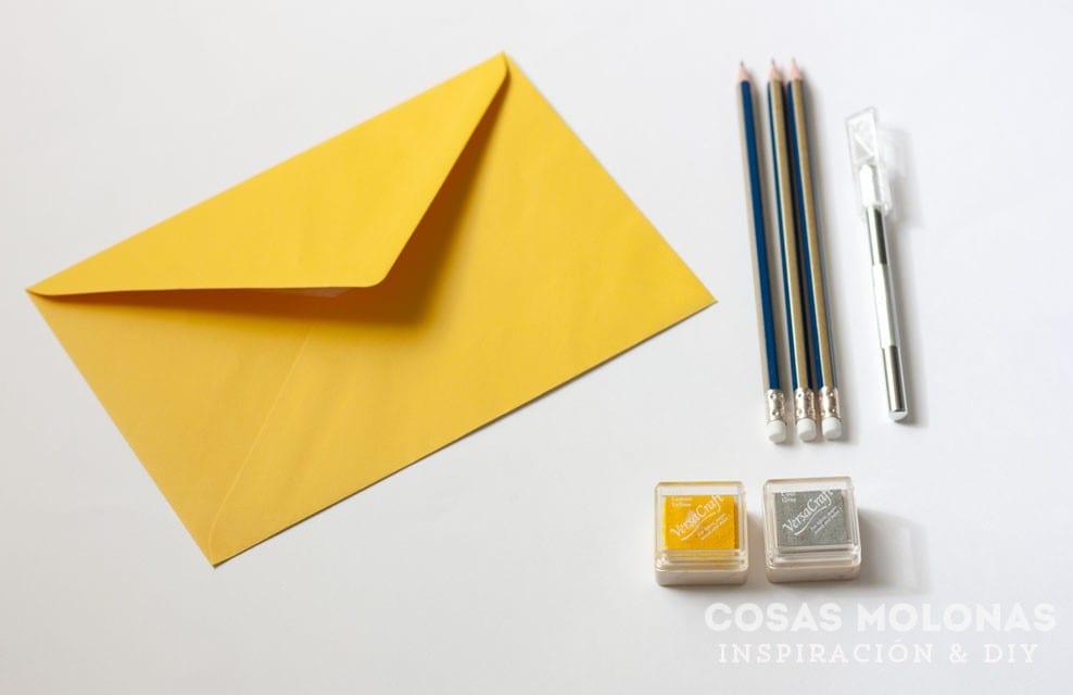 DIY Cómo decorar un sobre de carta