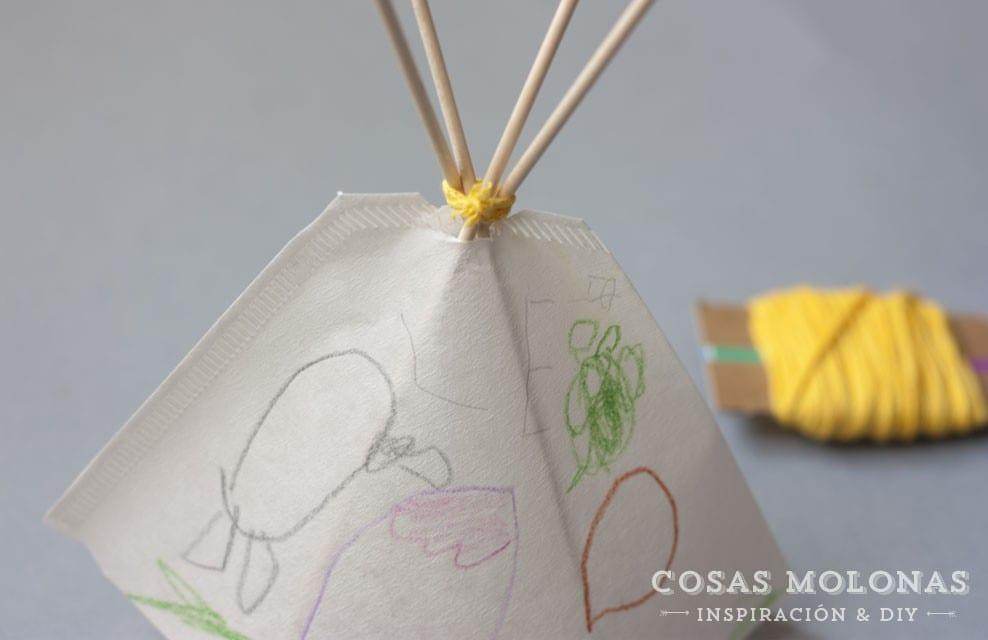 Manualidades para niños: Tipi indio para jugar
