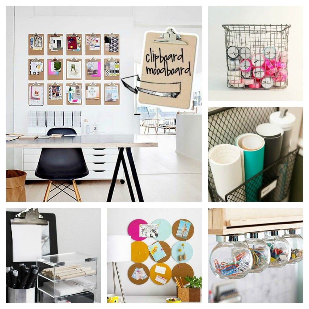 Inspiraci n como decorar una oficina o craft room cosas for Como decorar una oficina en casa