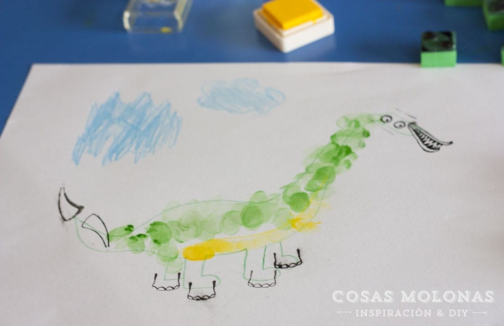 Manualidades para niños: Dibujos con huellas dactilares