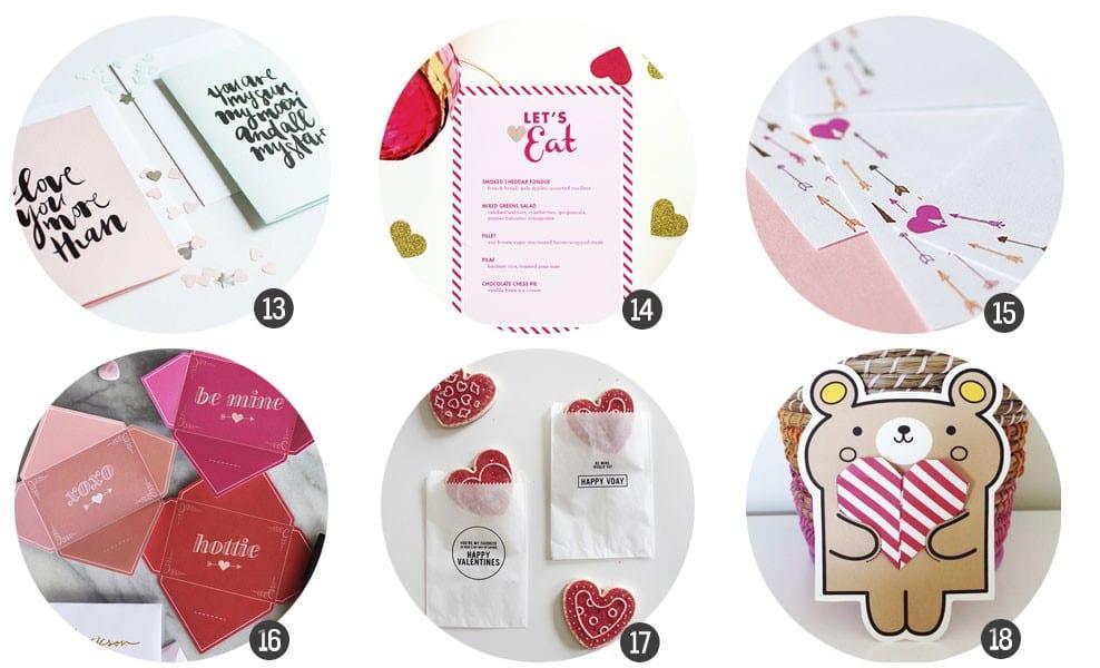 Imprimibles gratis: 18 recursos románticos para imprimir