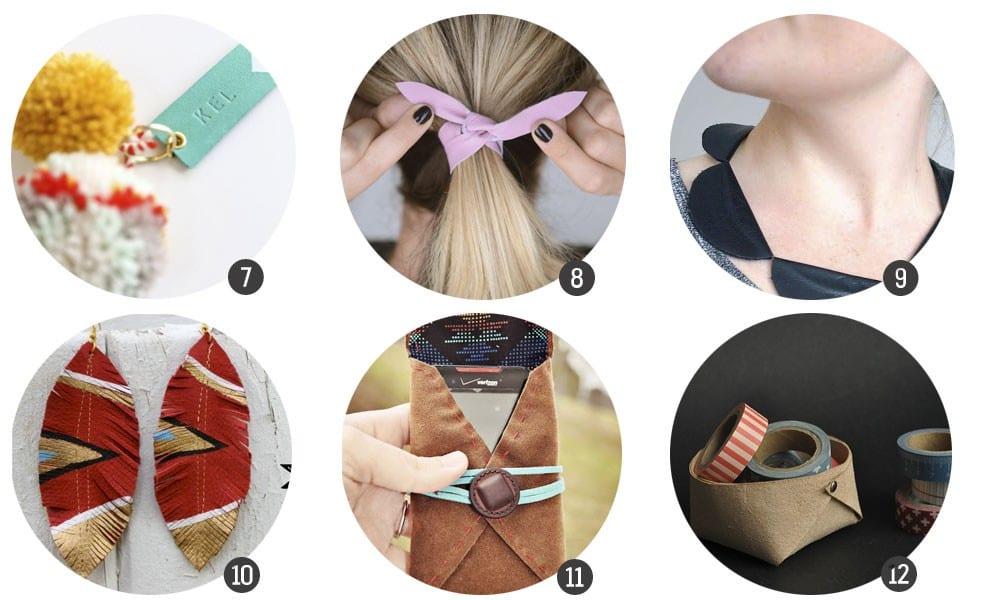 Inspiración: 18 DIY para hacer con cuero o piel sintética // blog.cosasmolonas.com