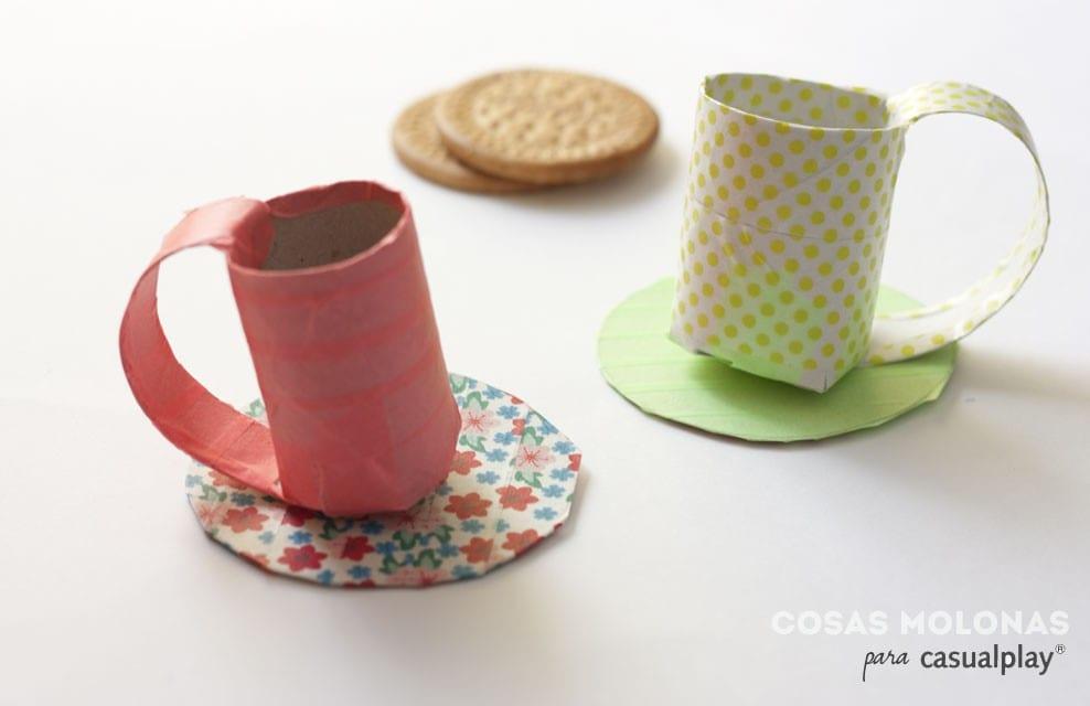 para niños: Juego de café con cartón reciclado | Cosas View Image