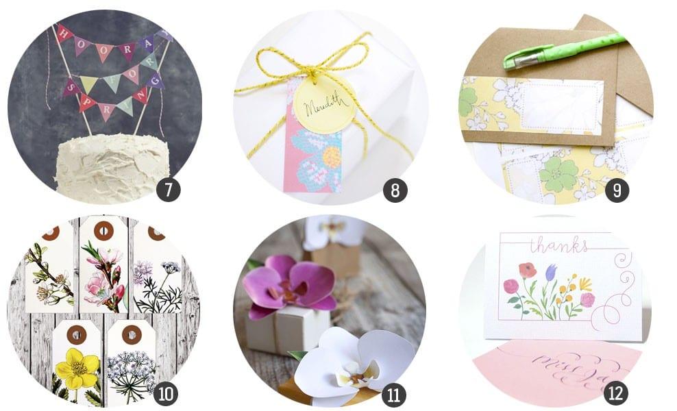 Imprimibles gratis: 12 recursos para dar la bienvenida a la primavera / blog.cosasmolonas.com