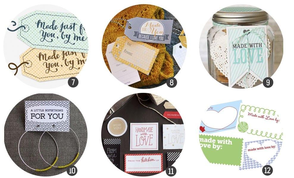 Imprimibles gratis: 12 etiquetas para hacer regalos handmade