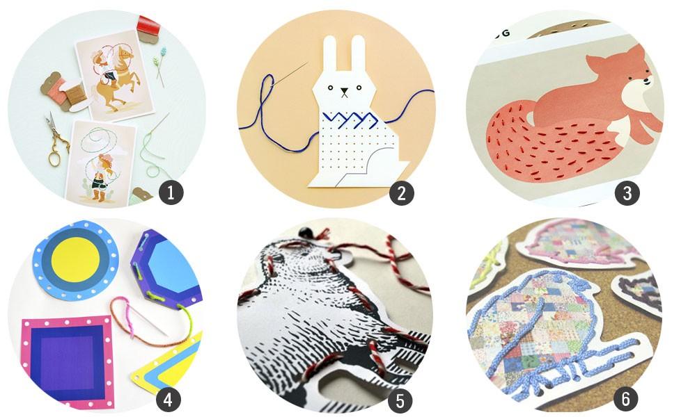 18 plantillas para niños para aprender a coser