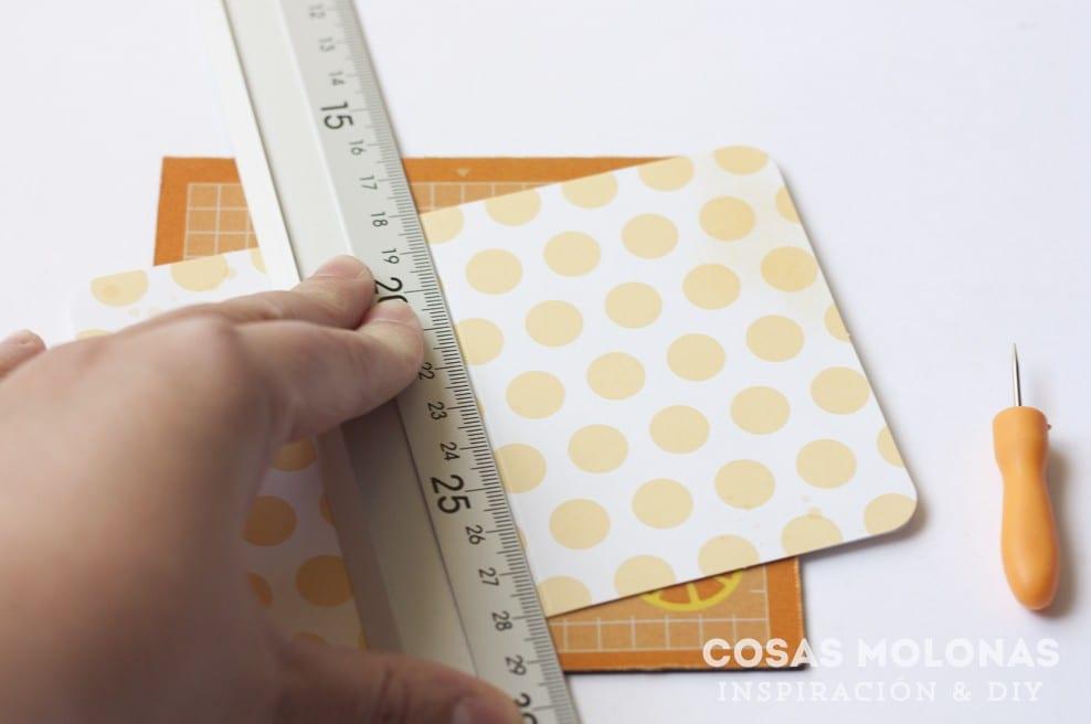 DIY Mini libreta cosida a mano