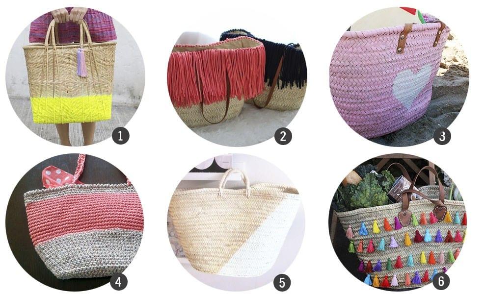 Tendencias: 12 DIY para customizar tu capazo de mimbre este verano en blog.cosasmolonas.com