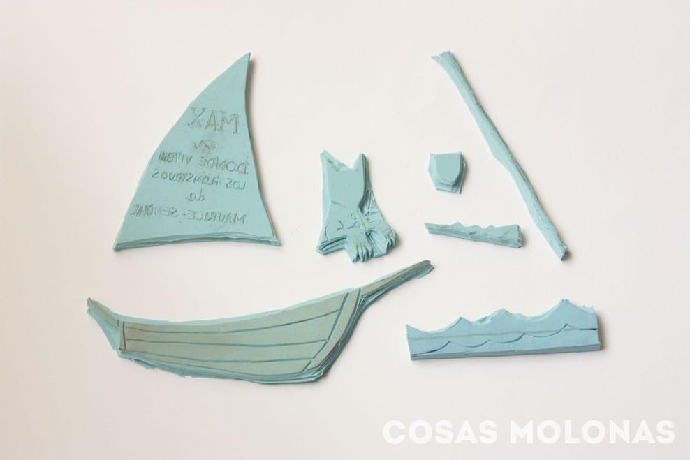 Cómo hacer una composición con sellos a partir de una lámina en blog.cosasmolonas.com