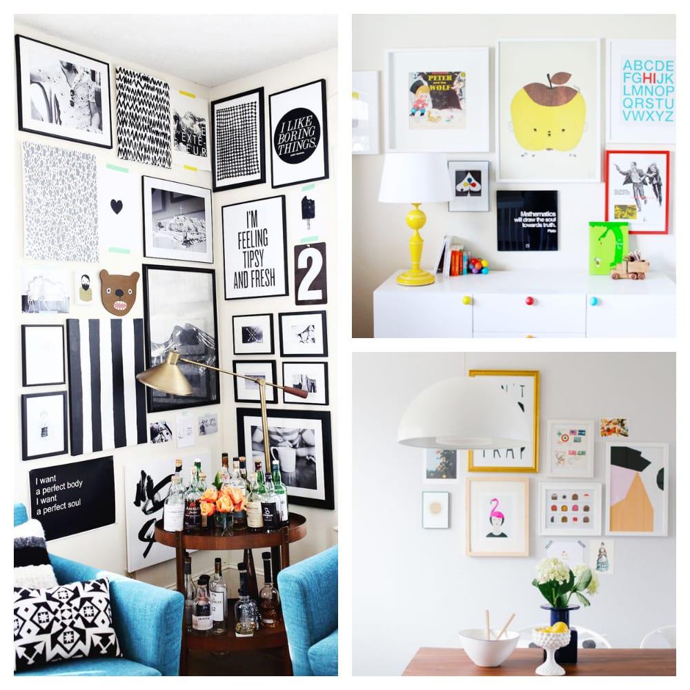 Inspiración Deco: Un rincón de casa lleno de ilustraciones bonitas