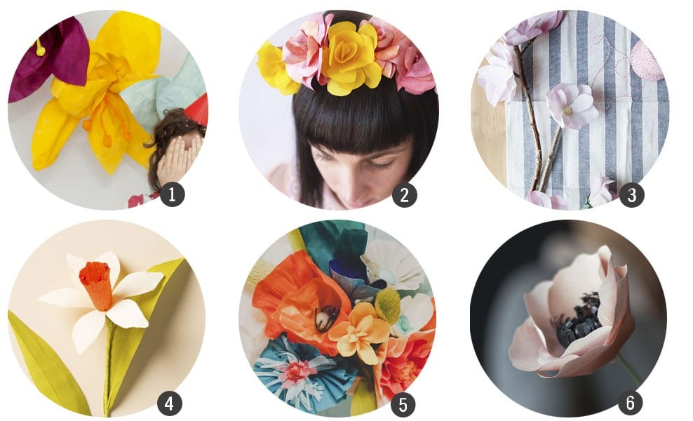 Tendencias DIY: Flores de papel