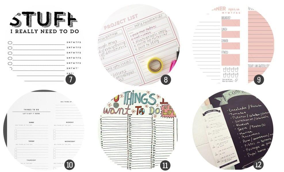 """Imprimibles gratis: 18 planificadores para tu día a día para la """"vuelta al cole"""""""