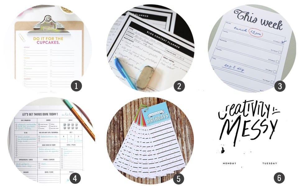 Imprimibles gratis: 18 planificadores para tu día a día para la «vuelta al cole»