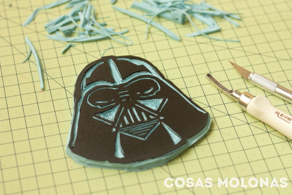 Friki #DIY: Alfiletero estampado de Darth Vader / Needle Pillow Darth Vader