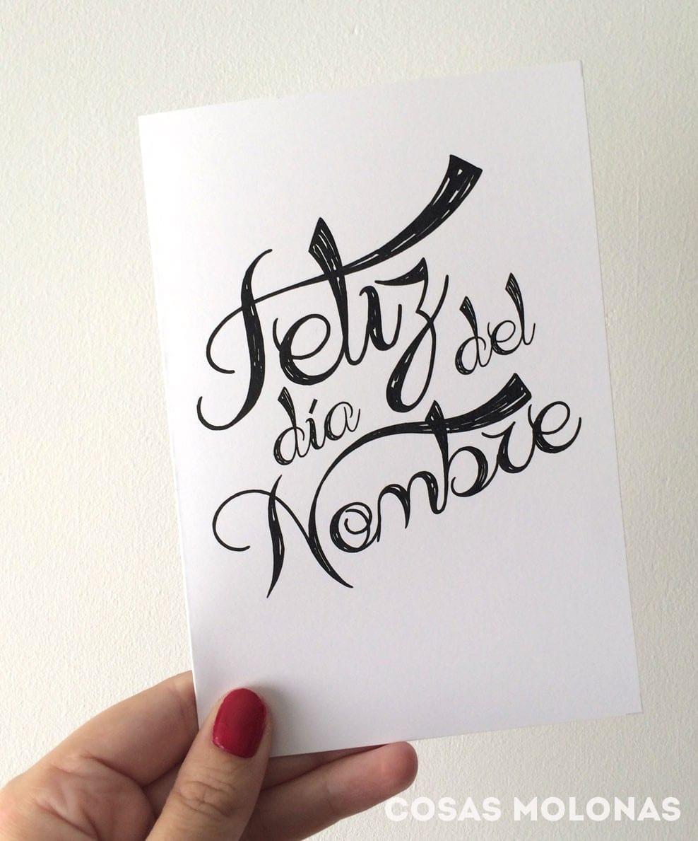 """Imprimible: Tarjeta """"Feliz Día del Nombre"""" inspirada en Juego de Tronos"""