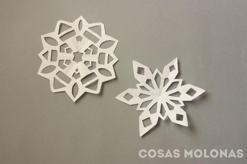 DIY Cómo hacer copos de nieve de papel decorativos
