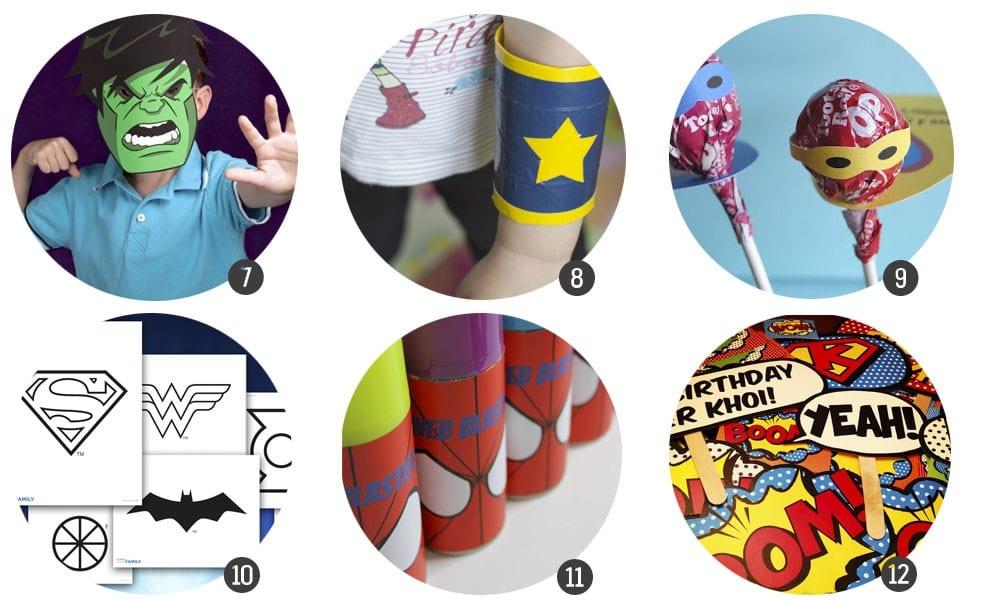 30 recursos para celebrar una fiesta temática de superhéroes