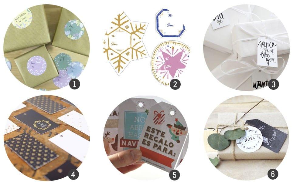 Imprimibles gratis: etiquetas de regalo