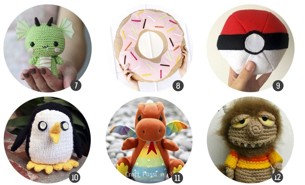 Regalos DIY: 18 patrones gratuitos para crear peluches