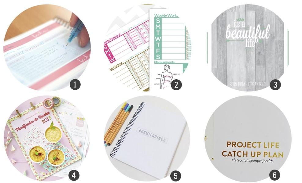 Organiza tu 2015: Agendas y planificadores para imprimir