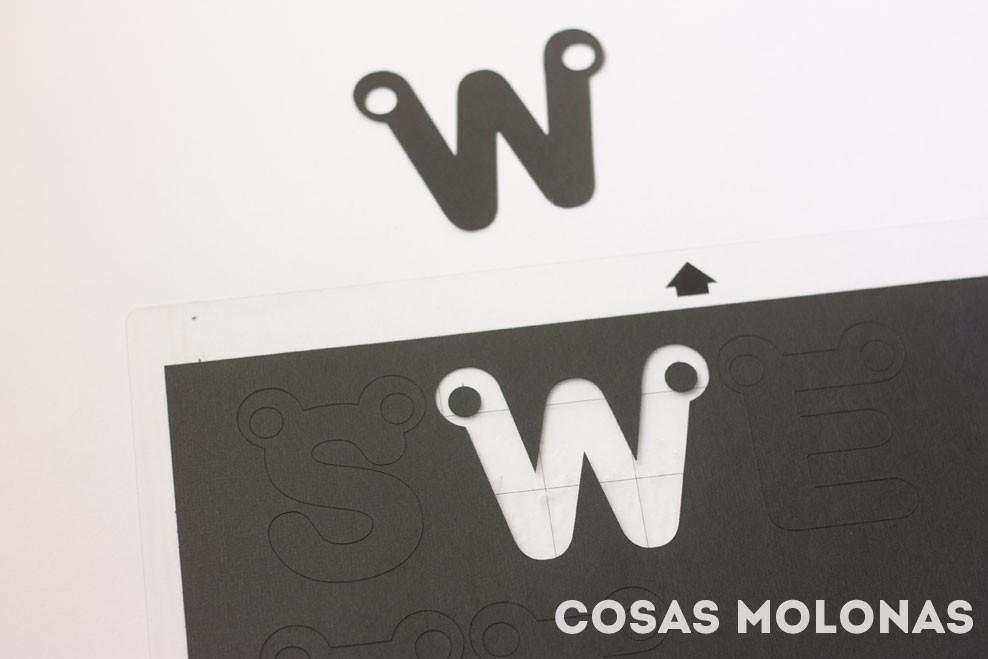 DIY Guirnalda de letras para decorar