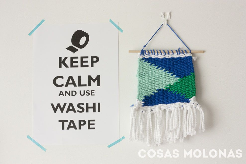 "Imprimible: Póster ""Keep calm and use washi tape"""