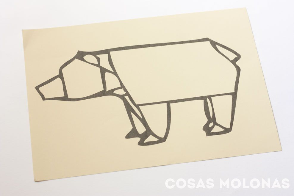 Manualidades para niños: Lámina puzle