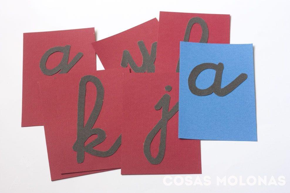 DIY: Letras de lija de Montessori | Cosas Molonas | DIY Blog