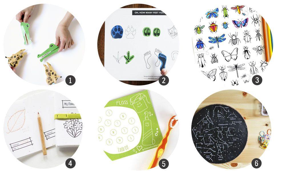 18 imprimibles para aprender y jugar este verano
