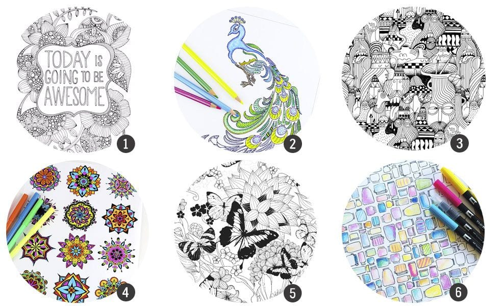 18 láminas gratis para imprimir y colorear
