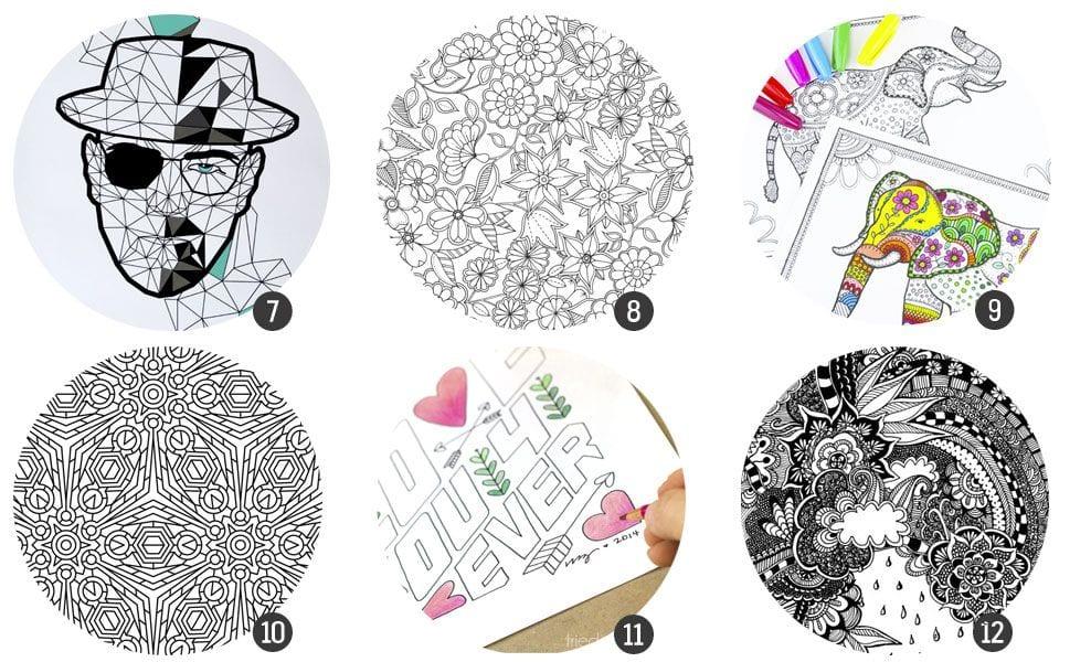36 Láminas Para Colorear Para Adultos Cosas Molonas