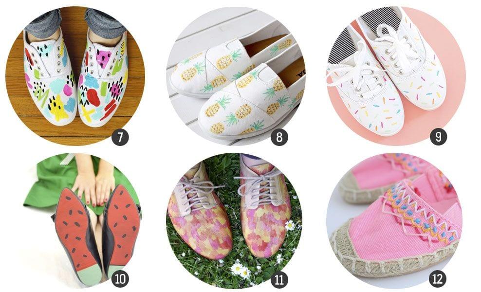 18 DIY para hacer y customizar zapatillas