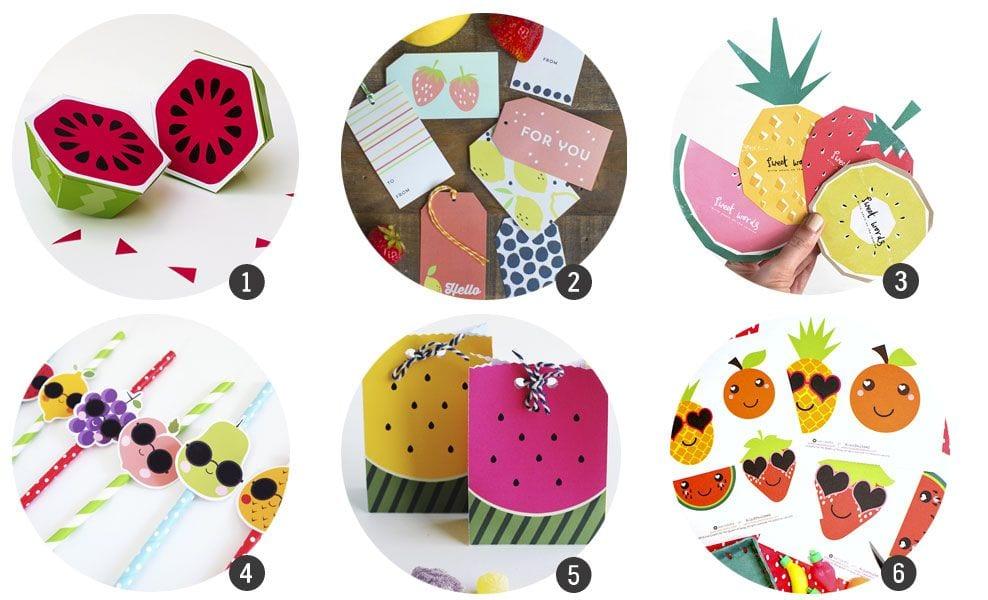 18 imprimibles inspirados en frutas (especial verano)