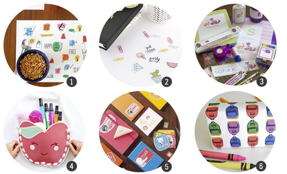 18 imprimibles inspirados en la «vuelta al cole»