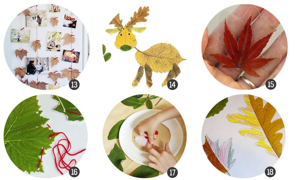 18 manualidades con hojas de Otoño