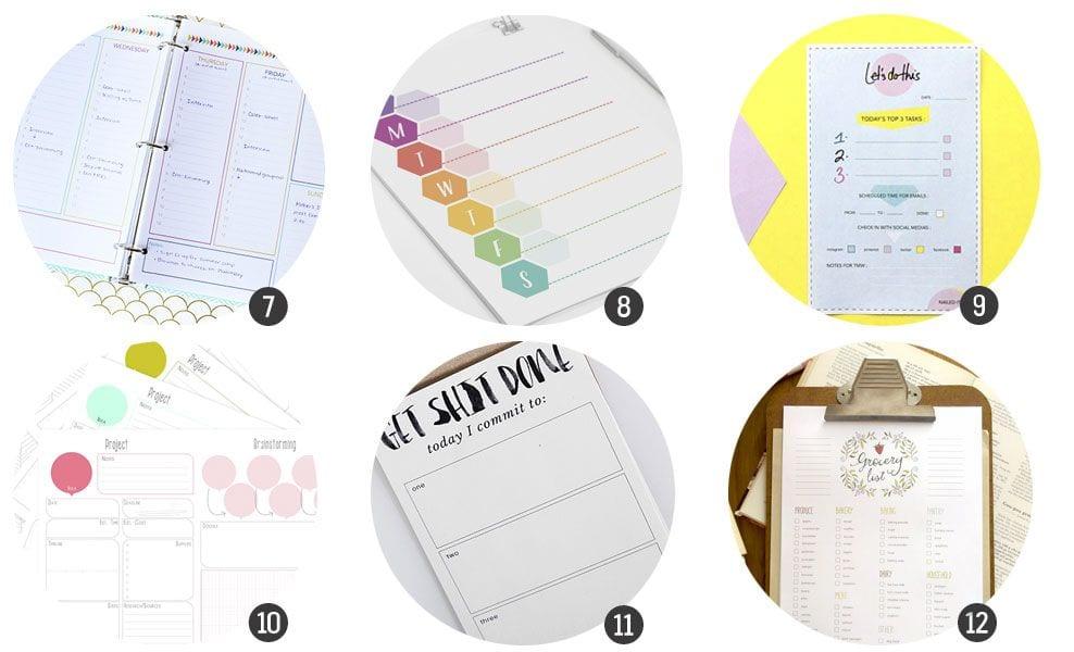18 imprimibles - planificadores para la vuelta al cole
