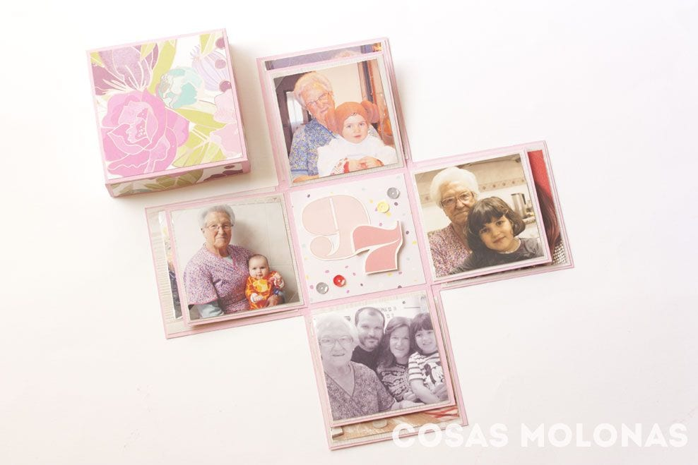 Scrap exploding box o caja explosiva doble cosas - Pared decorada con fotos ...
