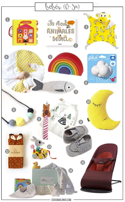 Guía de regalos: Bebés (0 a 3 años) en www.cosasmolonas.com