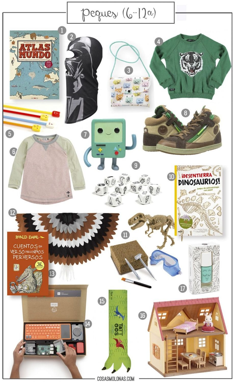 Guía de regalos: Peques (6-12 años) en www.cosasmolonas.com