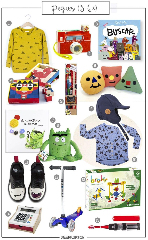 Guía de regalos: Peques (3-6 años) en www.cosasmolonas.com