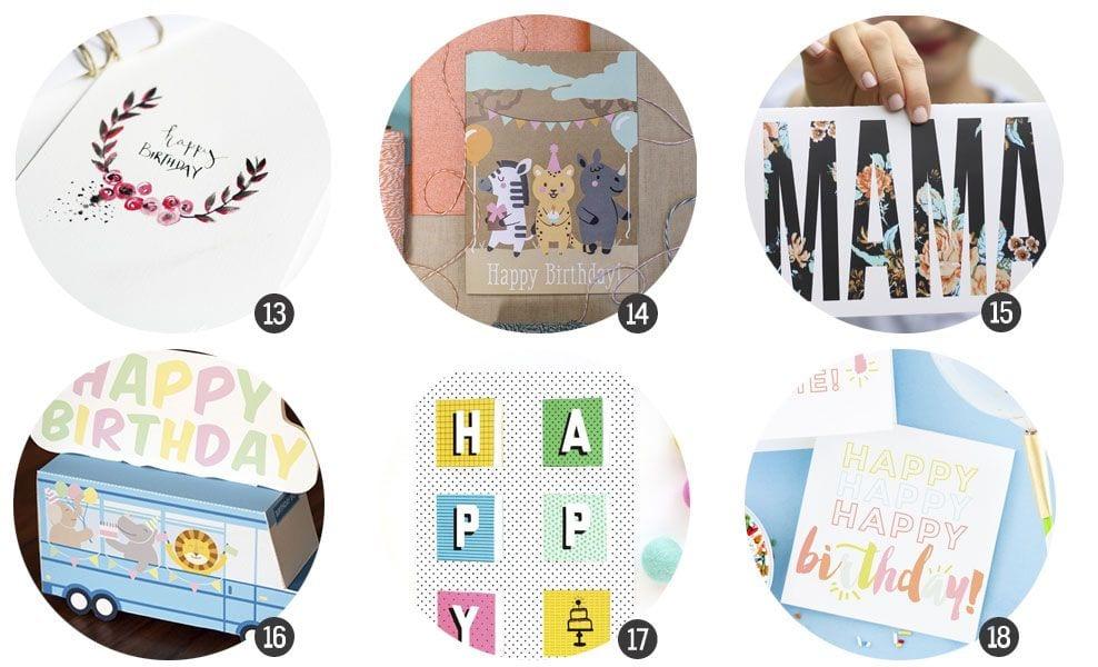Imprimibles: 18 tarjetas para felicitar