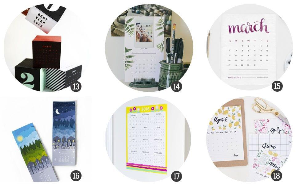 18 calendarios de 2016 para imprimir gratis