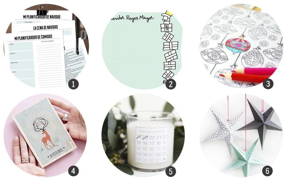 Imprimibles: 18 recursos inspirados en la Navidad | Cosas Molonas ...